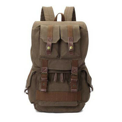 Camera Backpack Rucksack Casual Bags Cases Canvas Fit Canon Nikon Sony SLR DSLR