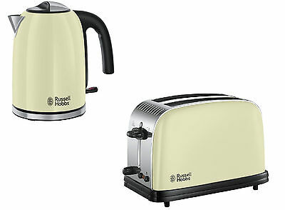Russell Hobbs Colours Plus Classic Cream Kettle And 2 Slice Toaster Set