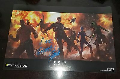 SDCC Stan Lee signed guardians of the galaxy 2 GOTG poster comic con
