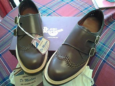 "Dr Martens Shoes Size 10 Made In England ""braider"" New In Box Dark Brown"