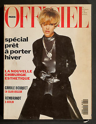 'l'officiel' French Magazine Winter Pret A Porter Issue Emma Cover August 1991