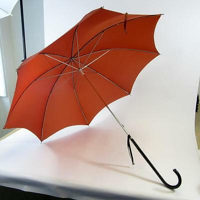 Vintage Gauntlet Umbrella with Leather Covered Handle - Red - Plus Two Sleeves