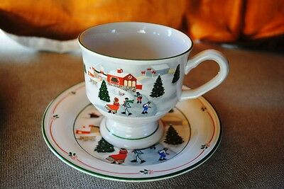Vintage Retired 1989 Sango 3900 Silent Night Saucer Footed Mug Cup Replacements