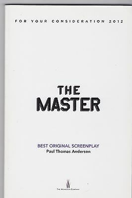 THE MASTER Paul Thomas Anderson bound ltd edition SCREENPLAY for Oscar voters