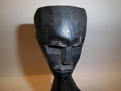 Antique African Tribe Tribal Art Hand Carved Wooden Figure Linked Sculpture