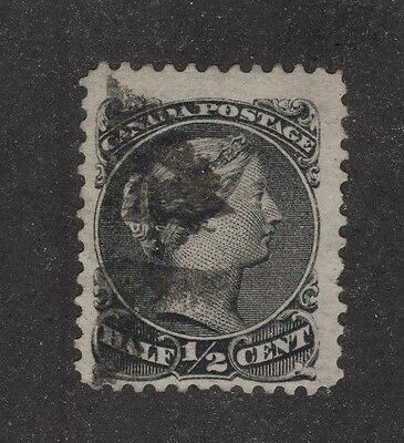 CANADA used #21c 1/2ct black JUMBO good centering  LARGE QUEEN 1868 (a5)