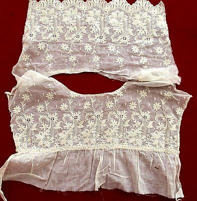 Antique Victorian Ayrshire Lace Dress Top Remnant