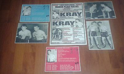 The Krays Boxing Poster. Signed Pictures & Boxing Stat Cards. Kray Twins. Legend