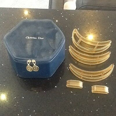 Christian Dior Vintage Hair Inserts And Presentation Box