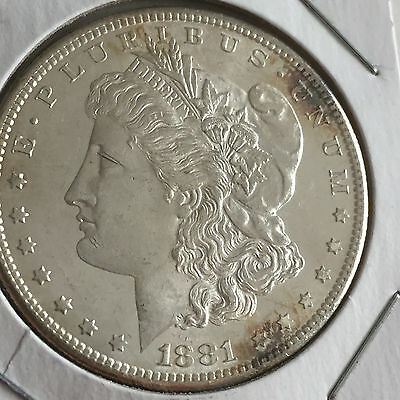 1881 S Morgan Silver Dollar - Uncirculated, Mint State
