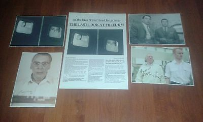 The Krays Newspaper Article Poster & Signed Pictures. Krays. Legend. Gangsters.