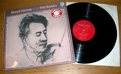 HENRYK SZERYNG PLAYS FRITZ KREISLER LP - Philips 6833 164