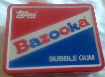 Bazooka Bubble Gum Topps Metal Lunch Box Featuring Bazooka Joe Characters