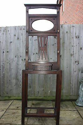 Antique/Vintage hall stand, coat, hat, umbrella, with mirror,shabby chic project
