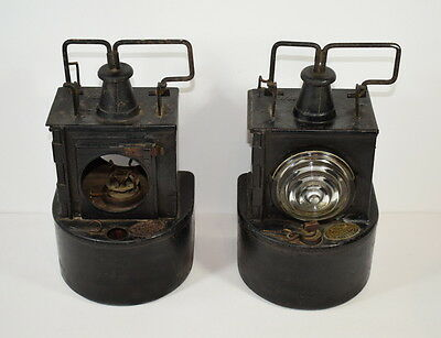 Two Vintage / Antique Lms Petroleum Railway Lamps / Lanterns.