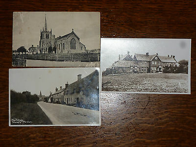 Real Photo Postcards Steeple And Guilden Morden Cambs + Photo Royston Herts