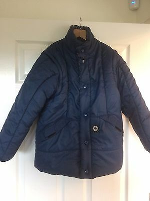 Ladies reversible quilted navy riding jacket size 8-10