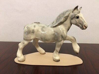 MINT Hagen Renaker Retired Specialty Draft Horse #3340 on Base