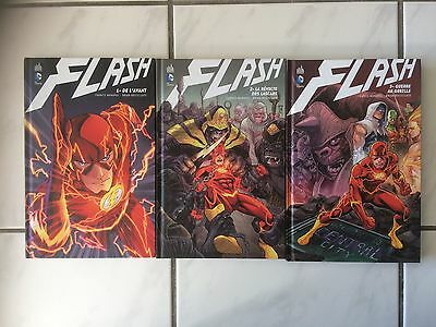 Lot de 3 DC Comics - Flash tome 1 2 3  tres bel état