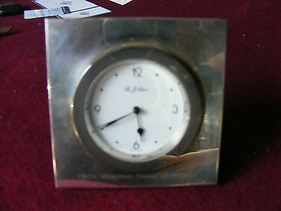 Stirling Silver Desk Clock From The Arcadia  P&o Millenium Cruise
