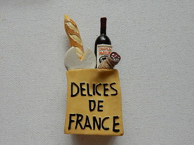 3D Souvenir Fridge Magnet from France French Delicacies
