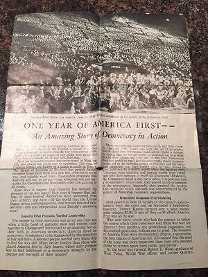 One Year Of America First Pre War America During WW2 Committee Article