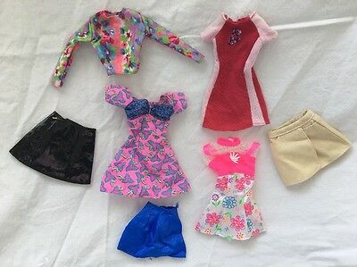 Genuine Barbie PINK Tagged Doll FLORAL Dresses Skirts Lot #7