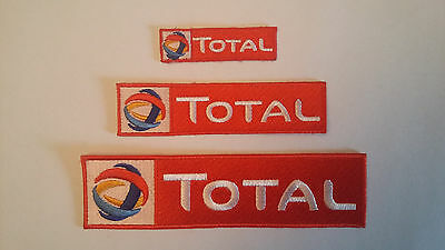 TOTAL ecussons x3 badge brodé patch thermocollant iron-on patch