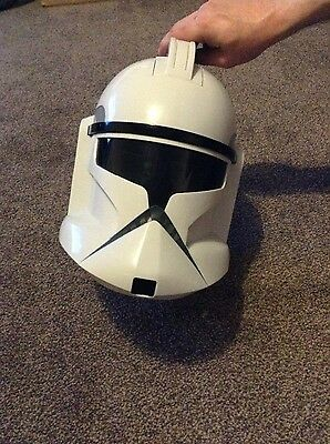 star wars clone trooper helmet with microphone and voice changer