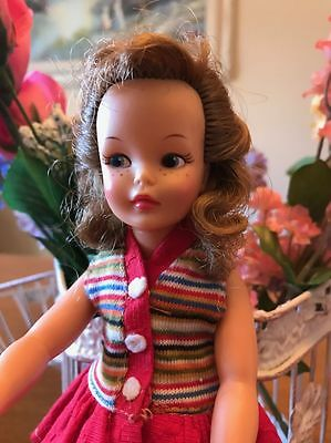 1964 Ideal Toy Corp Tammy's Little Sister Pos'n Pepper High Color Original Dress
