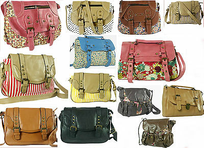 5 Ladies Satchel Crossbody Shoulder Hand Bags-Free Delivery-Stylish DESIGNS