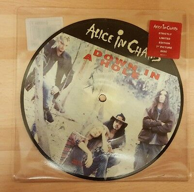"""Alice In Chains 'down In  A Hole' 7"""" Picture Disc Vinyl Single"""