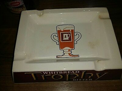 Vintage Whitbread Trophy bitter Ashtray good Condition.