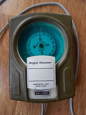 SISTECO SM-3602 Sight Master compass. Made in Finland.