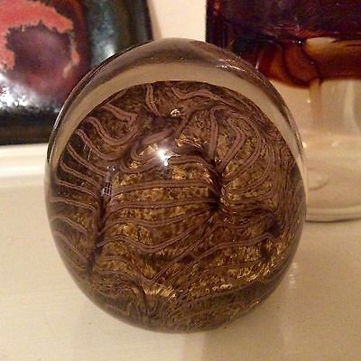 Cowdy Art Glass Signed Paperweight Fab Pattern Very Rare Pauline Solven Interest