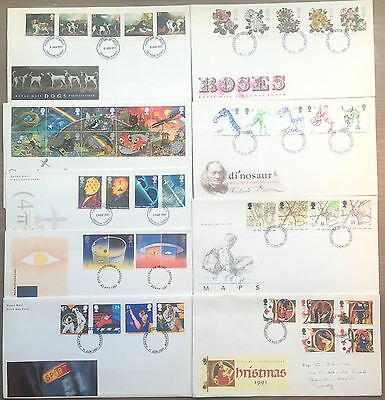 1991 First Day Covers, UK  (9no), Post STAMPS,Royal Mail