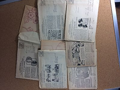 1945 Vintage Embroidery Transfers From Modern Handcraft, Lot Of 6 Unused Packets
