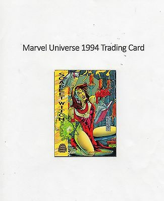 1994 Marvel Universe Trading Card #162 Force Works - Scarlet Witch