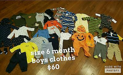baby boy size 6 month clothes lot huge