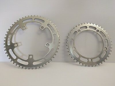 Vintage Shimano Dura Ace chainring / chainrings / ring / rings 54 / 44 130BCD
