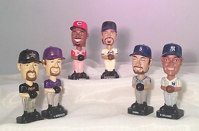Six 2002/03 Post Cereal Ltd Ed Baseball Player Bobbleheads/hof Griffey/piazza