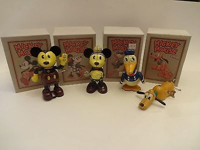Mickey Mouse, Minnie, Donald, Pluto - Tinplate Wind-Up Toys - Schylling - Disney