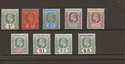 BRITISH HONDURAS 1884 SG 84-93 Fine VLMM set of 9 Cat £600
