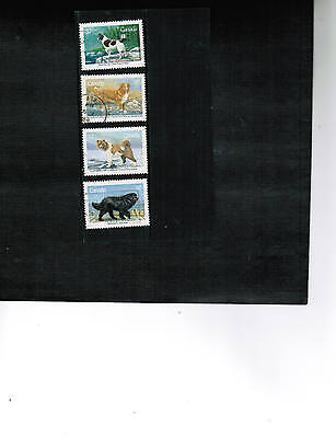 Canada 1988 DOGS  set of 4  USED  #1217-20    LOT 451