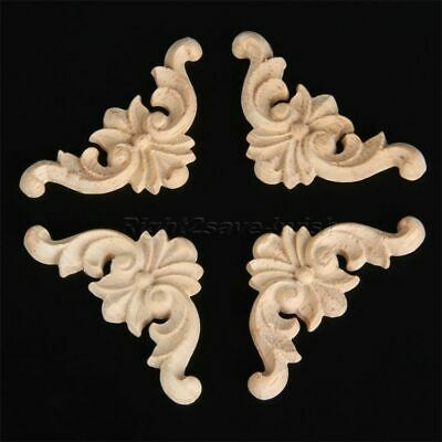 Vintage European Style Art Wood Decal Furniture Door Frame Corner Decor Applique