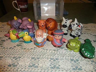 Little People Fisher Price Genuine Characters Mr & Mrs Noah plus Ark Animals