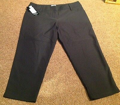 adidas climalite 3/4 length black golf trousers BNWT Size 8