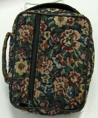 LDS SCRIPTURE CASE TOTE Small Sz-Zippered Pocket-Flower Pattern-Used-Mormon LDS