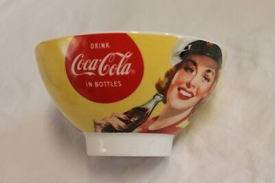 Original Vintage Style Coca Cola Bowl With Girl In Sailor Hat Drinking Coke Mint
