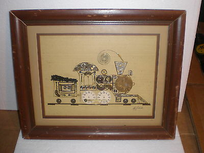 Locomotive Watch Parts Picture Signed Girard - Hamilton Watch Dials